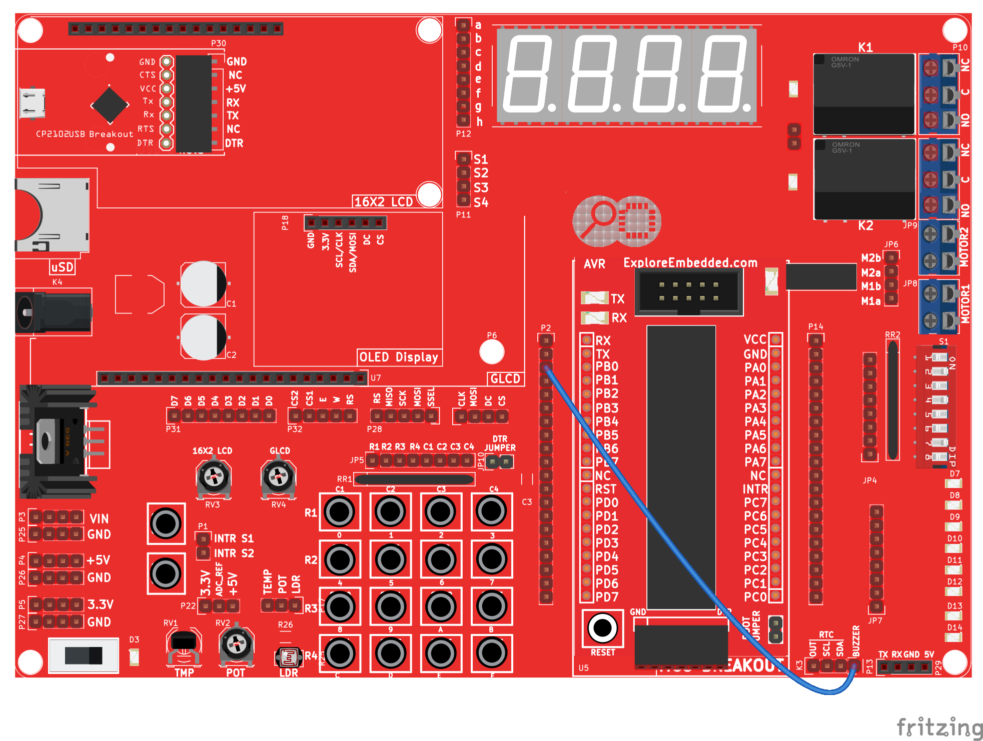 Buzzer With Avr Tutorials Microcontroller Based Fire Alarm Circuit Diagram Wiring