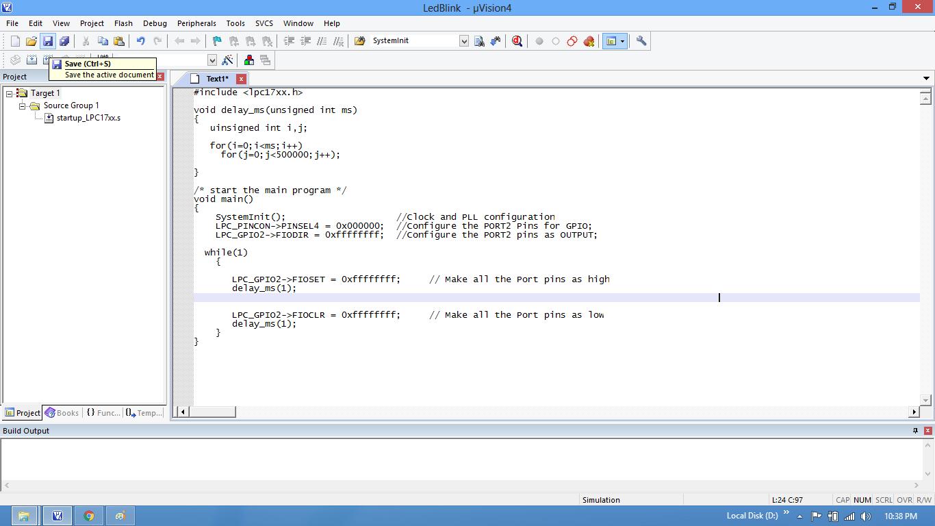 LPC1768: Keil Project For Bin File - Tutorials