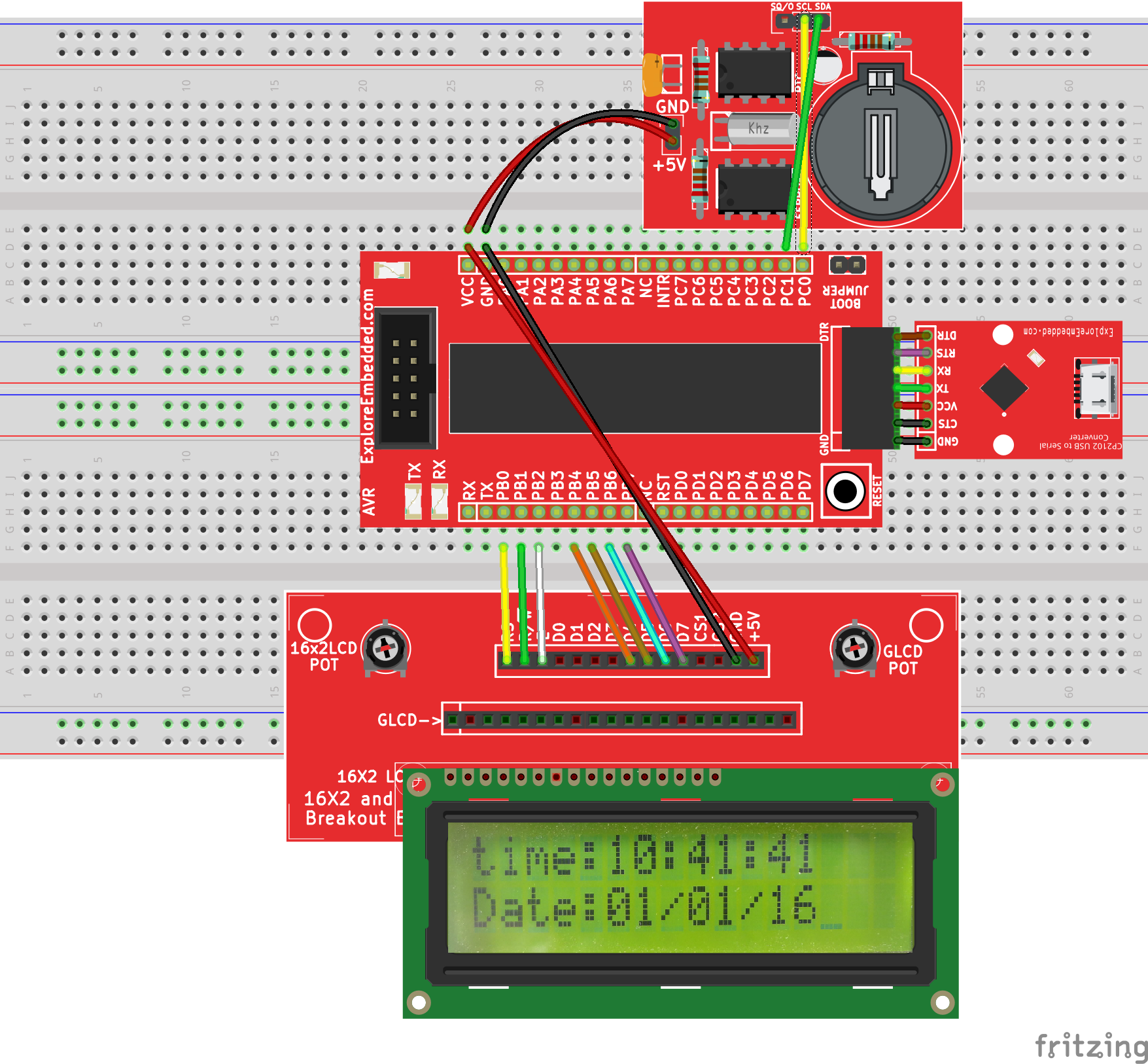 Interfacing Rtc With Avr Breakout Tutorials Digital Clock Using 8051 Microcontroller Ds1307 0 Avrbreakout
