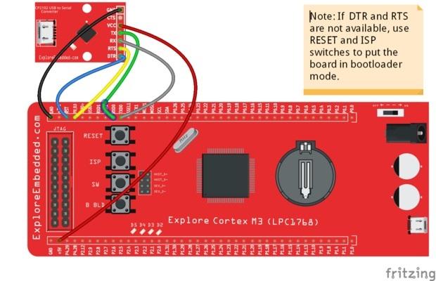 LPC2148: Uploading  hex file using Flash Magic - Tutorials